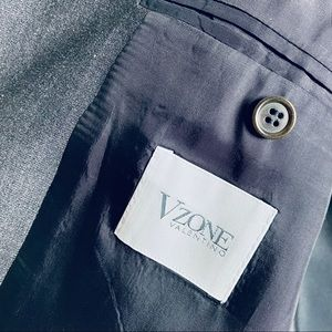 VZone Valentino Black Mens Blazer, 42